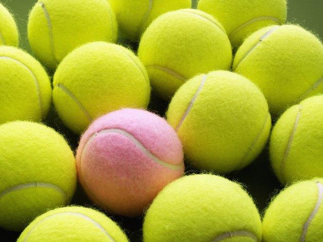 Yellow and Pink Tennis Balls