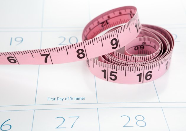 Dieting for Summer:  Calendar with Measuring Tape