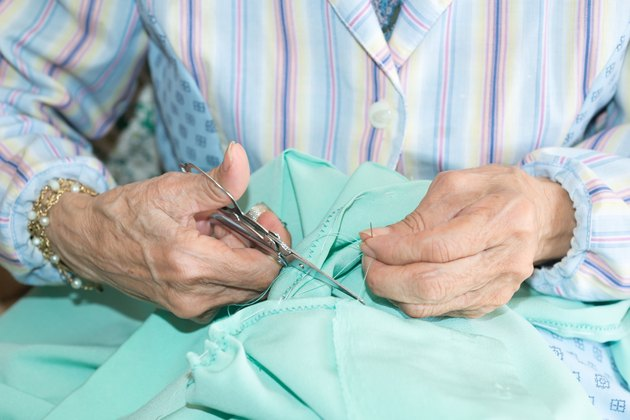Senior sewing