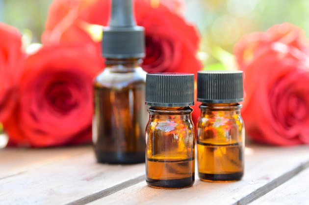 aromatherapy treatment with red roses