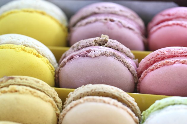 Beautiful Multicolored Macarons in Gift Box