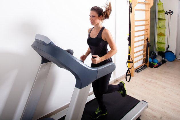 home gym treadmill run