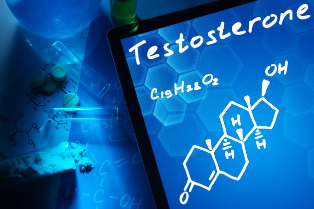 Tablet with the chemical formula of testosterone