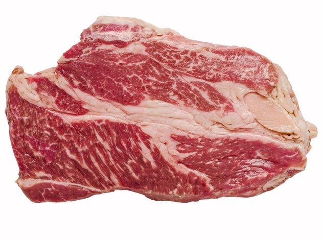 uncooked wagyu beef steak isolated