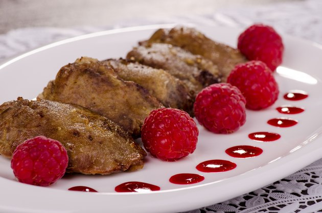 chicken liver with raspberry