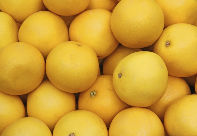 ripe grapefruit yellow sale at vegetable market