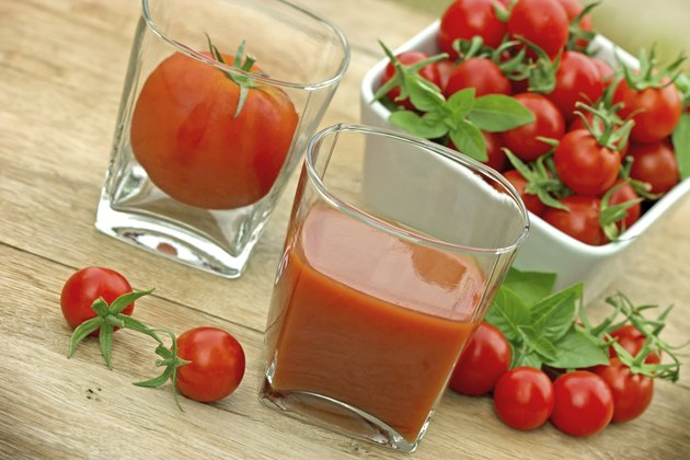Tomato juice - squeezed tomatoes (healthy drink)