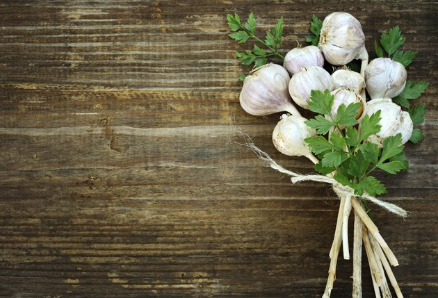 Bunch of garlic and parsley