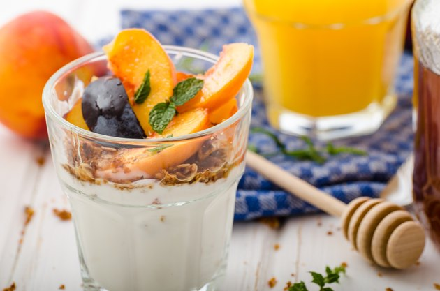 Greek yogurt with fresh fruit