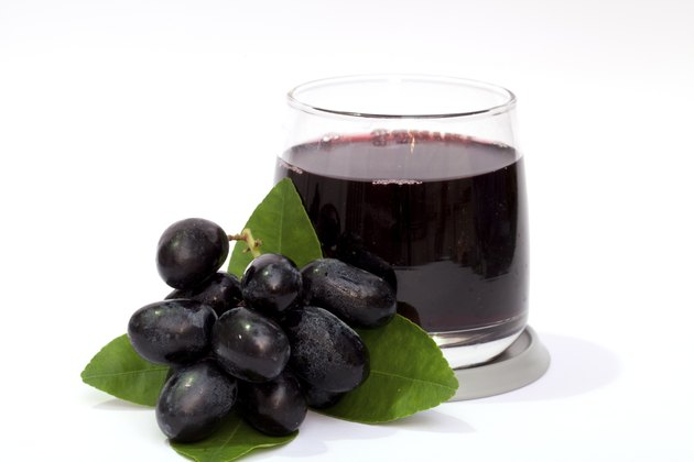 Grape and juice isolated