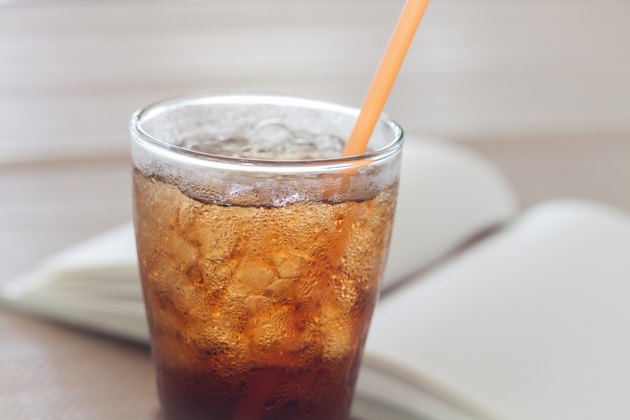 Glass of cola with ice