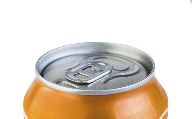 Aluminium jar with drink