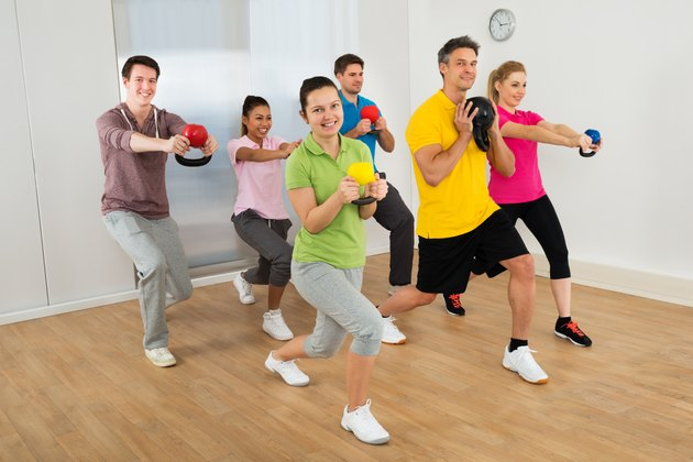 Multiethnic Group Of Happy People  Exercising