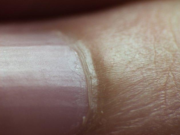 human nail close up