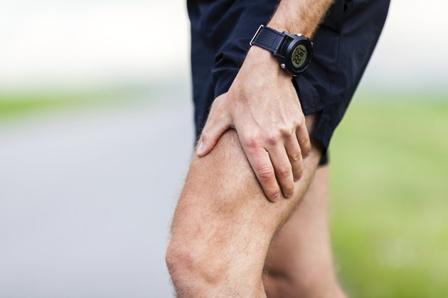 Runner leg pain during training
