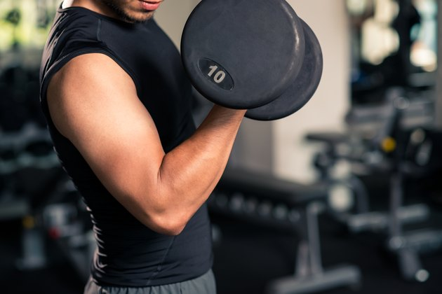 Working on biceps