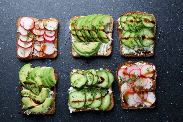 sandwiches with vegetables