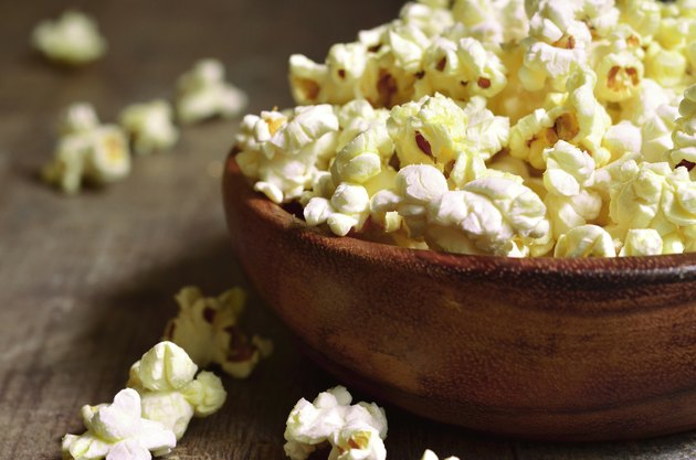 Bowl of popcorn .