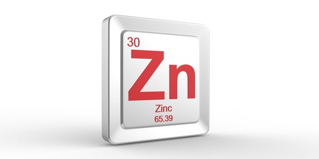 Zn symbol 30 material for Zinc chemical element