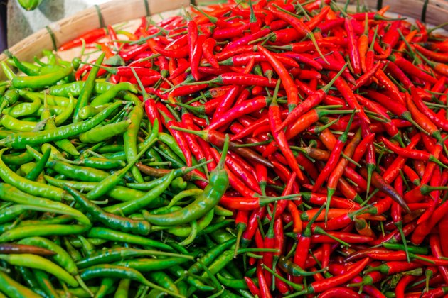 green red chilli