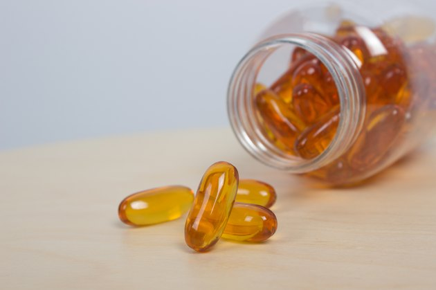 fish oil with container
