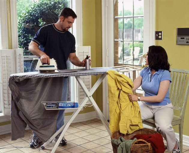 Couple ironing