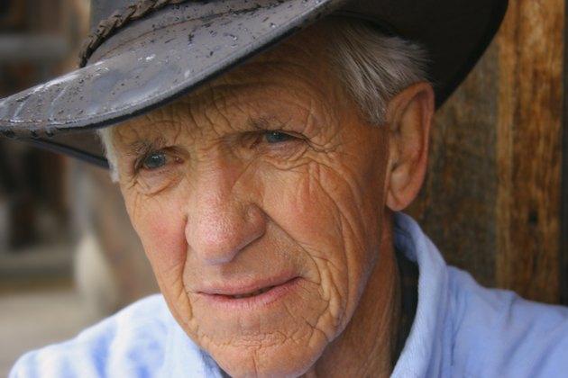 Closeup of a seniors face