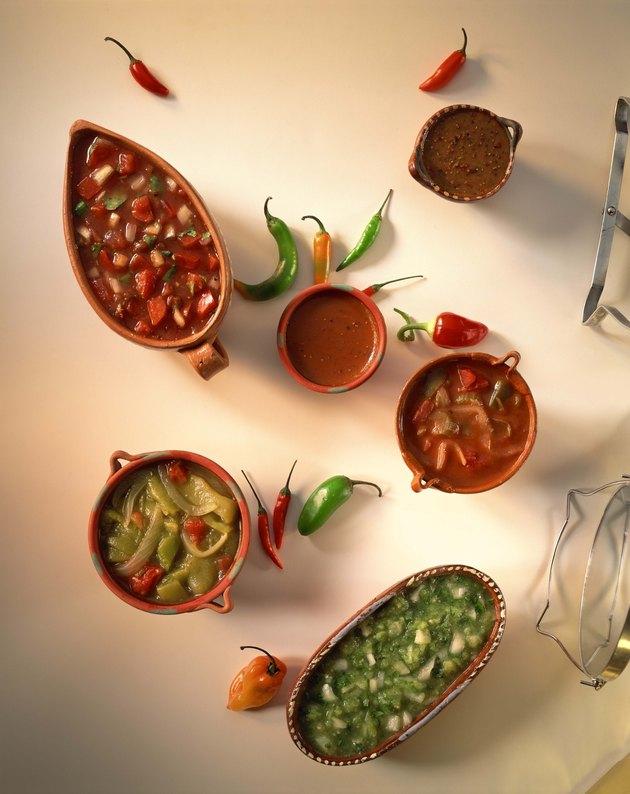 Assortment of salsas