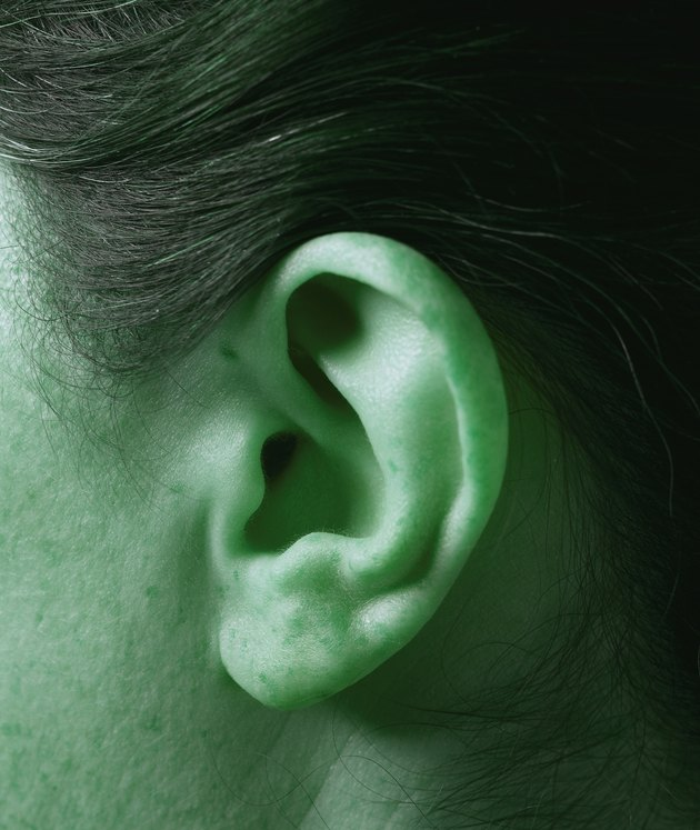 close-up of a person's ear (toned)
