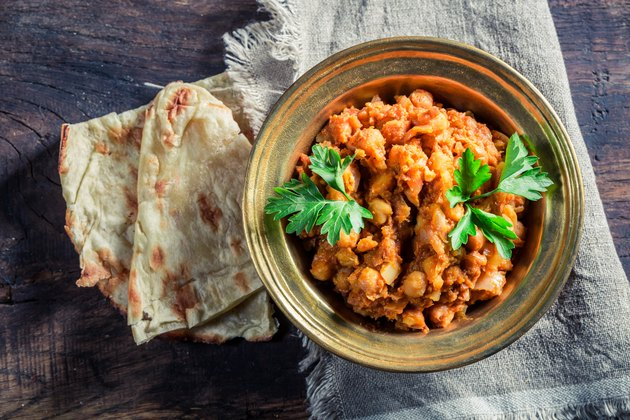 Indian Channa Masala with chickpeas