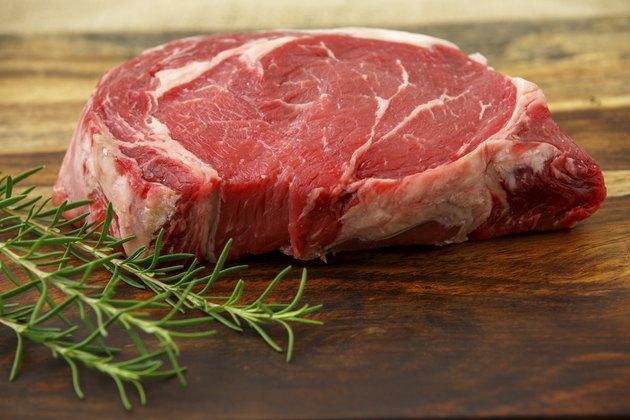 Raw Steak & Rosmary