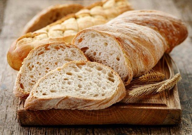 Ciabatta bread sliced