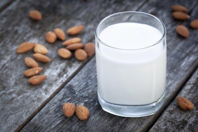 Almond milk, vegan healthcare drink