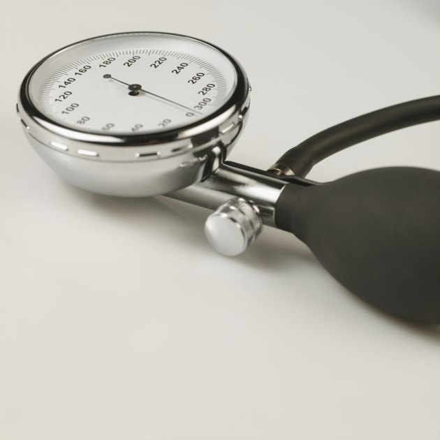 Close-up of blood pressure gauge