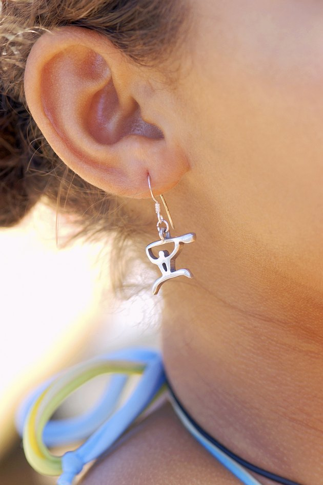 Woman wearing an earring