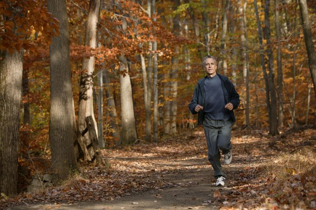 Man jogging in autumn