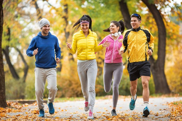 Autumn jogging