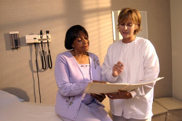 Patient with nurse