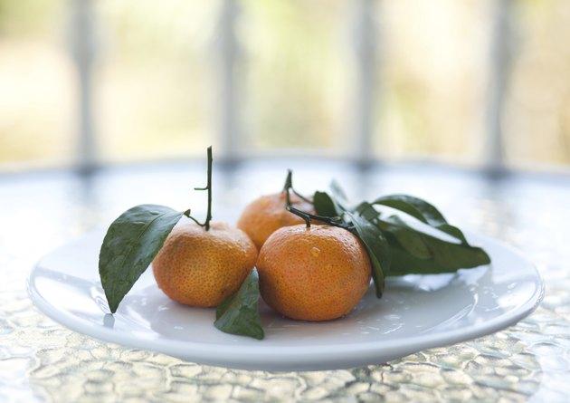 Fresh orange mandarines