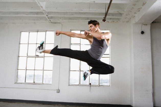 Dancer in midair