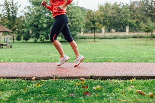 Runner in motion