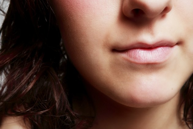 Closeup of woman's mouth