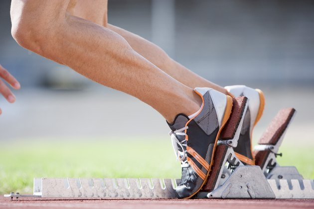 Feet in starting blocks