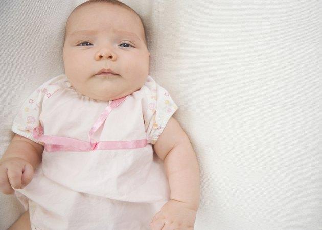 Close up of Hispanic baby
