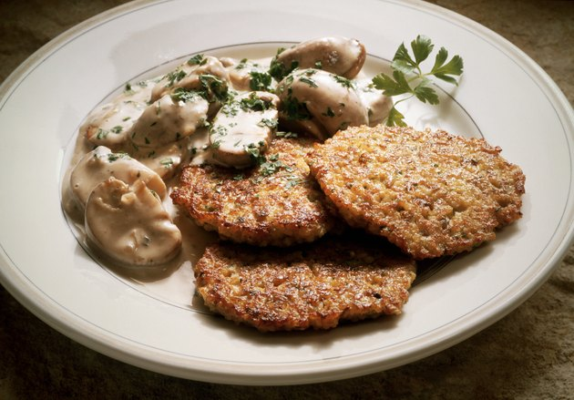 Millet Pancakes with Mushrooms