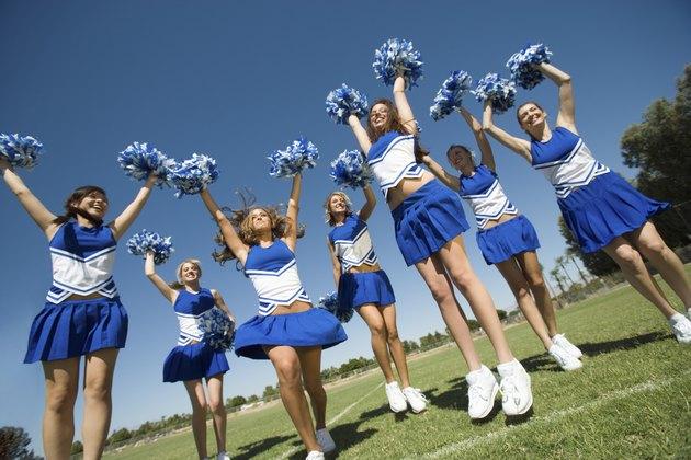 Cheerleading Squad Performing Cheer