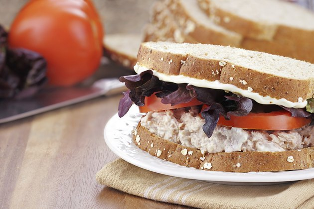 Tuna Salad Sandwich on Whole Grain Bread