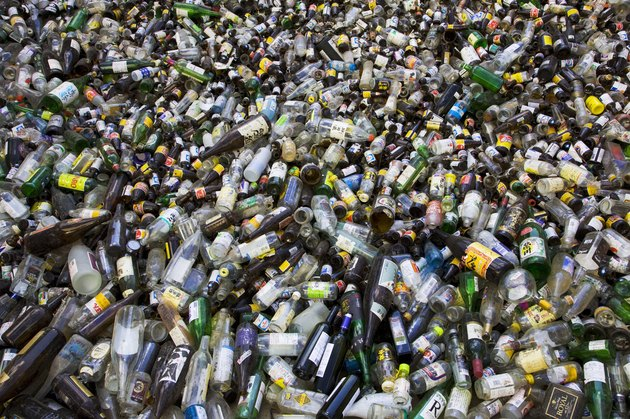 Bottles to be recycled