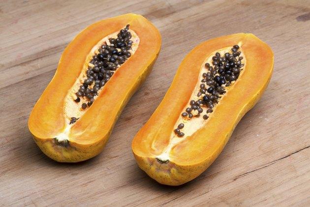 papaya - half cut