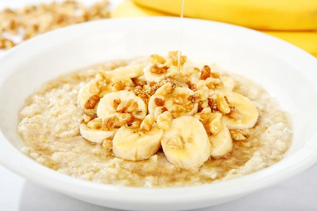 Banana Nut Oatmeal with Honey